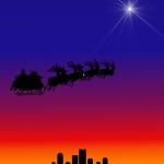 Christmas- Silhouettes Sleigh.