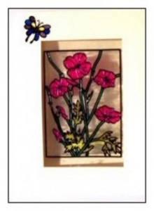 Glass Painted Greeting Card.