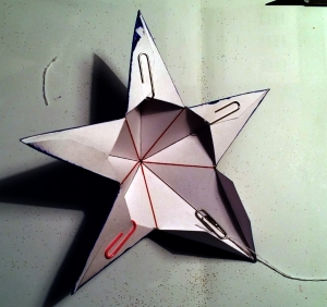 Adding Hanger to Christmas Star.