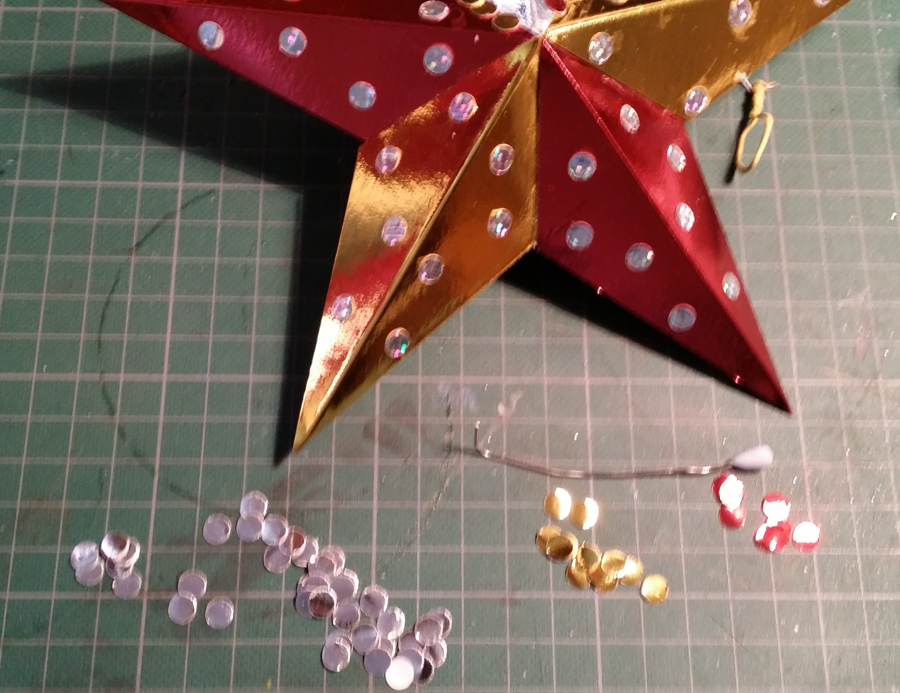 How to make your own metallic dots for paper crafts.