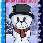 Snowman Bear Card.