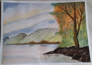 Learning Watercolour Painting: Lakeside