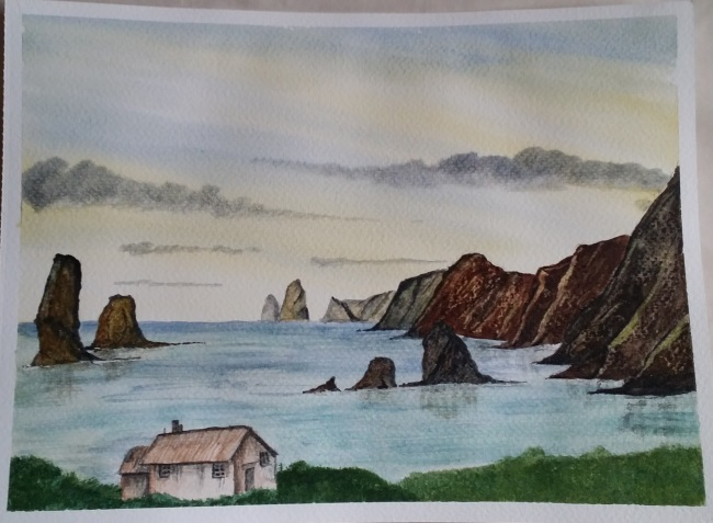 Learning Watercolour Painting: Seascape.