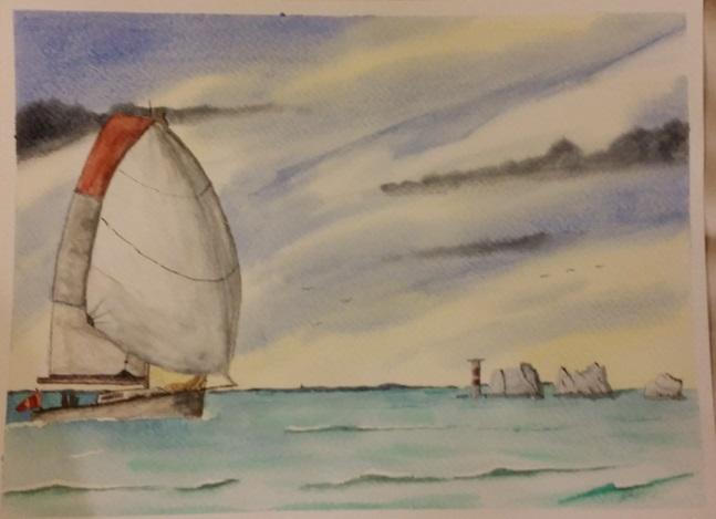 Watercolour Painting: Sailing