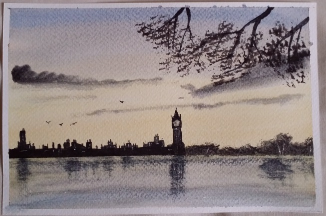 Learning Watercolour Painting - London