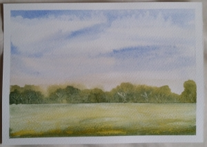 Learning Watercolour Painting - Meadow