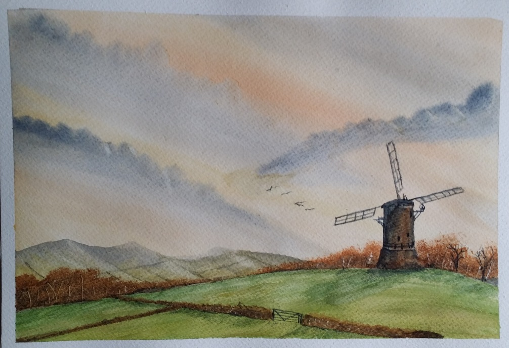 Watercolour Windmill