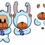 Easter Rabbit Decoupage