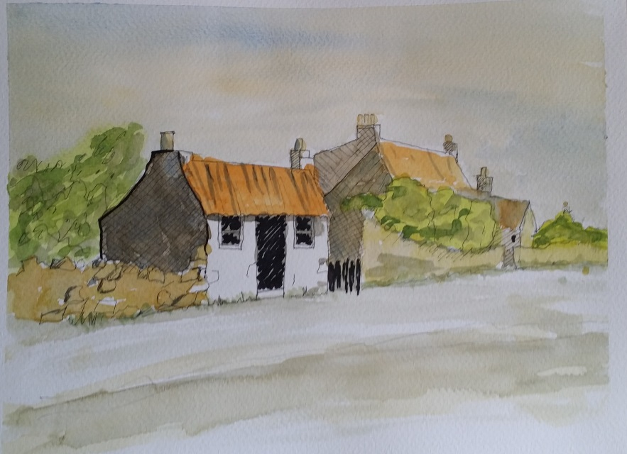 Pen and wash Watercolour Painting