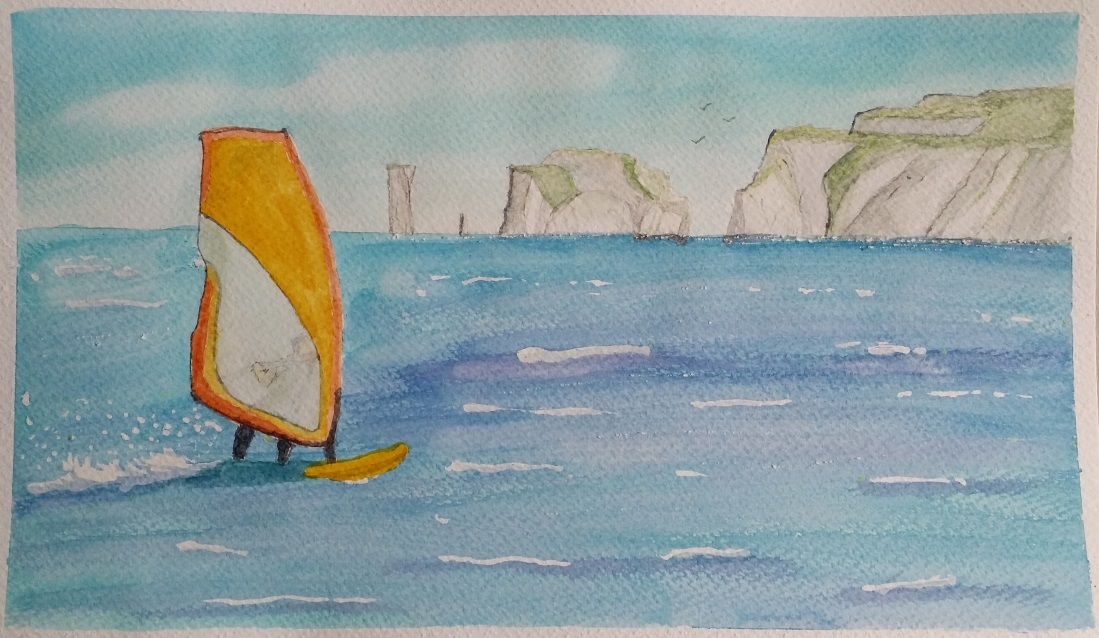 Sailboard - Watercolour