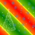 Free Christmas Tree and Snowflake 5x5 Card Making Paper.