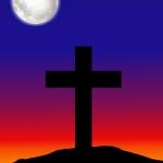 Easter Silhouette Cross Portrait Paper.