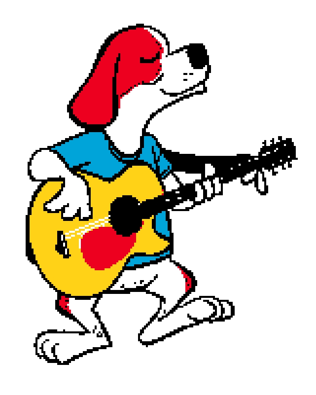 Brewster Singing and Guitar Cross Stitch Chart.