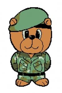 Army Bear- Cross Stitch Kit