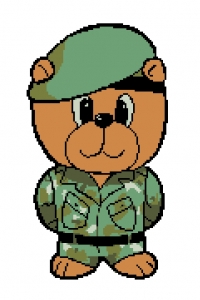 Army Bear- Cross Stitch Kit