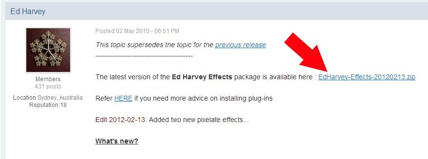 Ed Harvey Effects v 3.5
