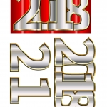 2018 New Year 3d Decoupage to download and print.