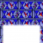 Insert Sheet with Free Stained glass birds design.