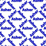 Asher themed backing Paper.