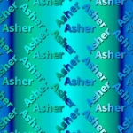 Free Asher themed backing Paper to download and print.