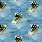 Card making paper with Jet Ski on.
