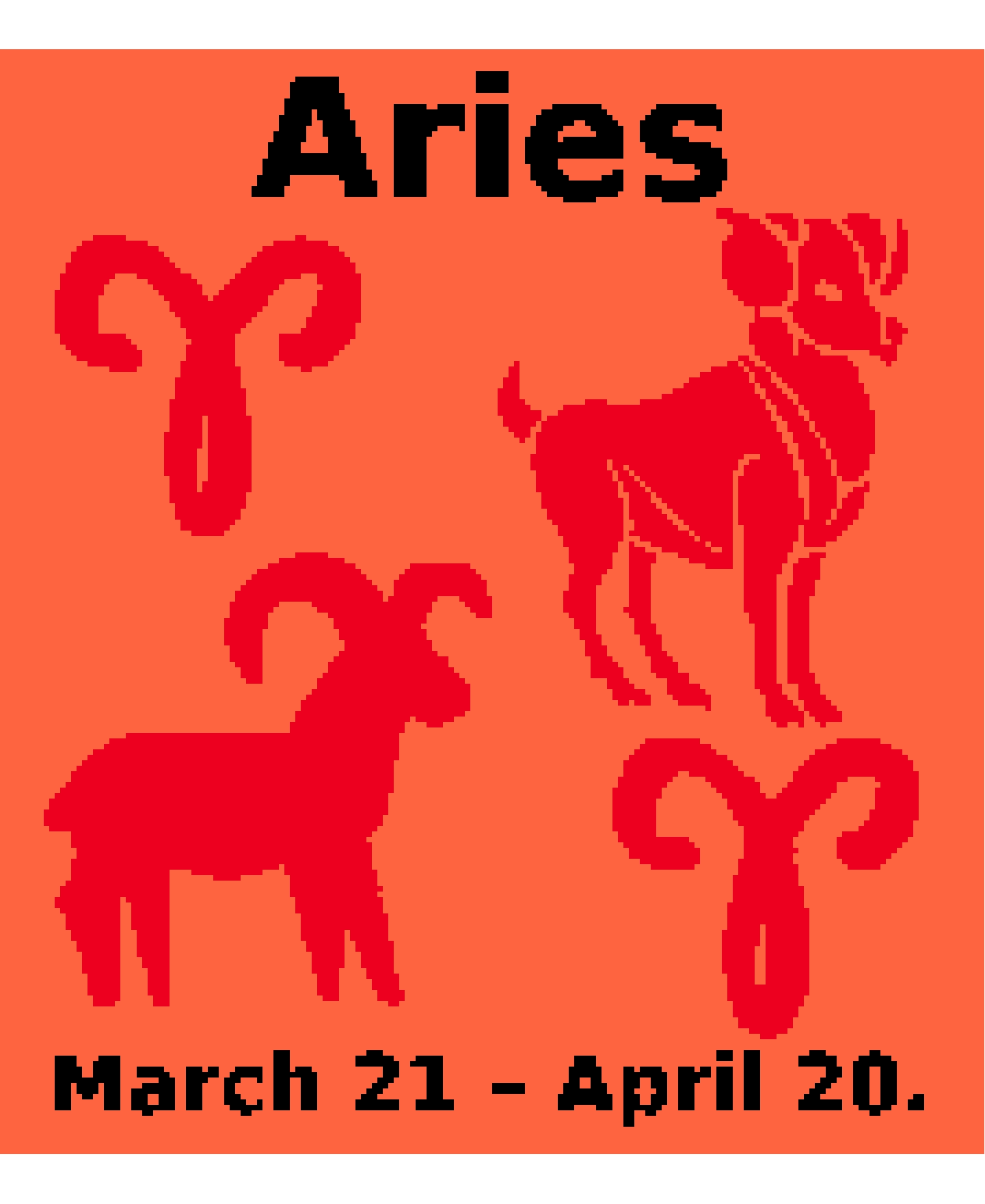 Aries Chart. New Style.