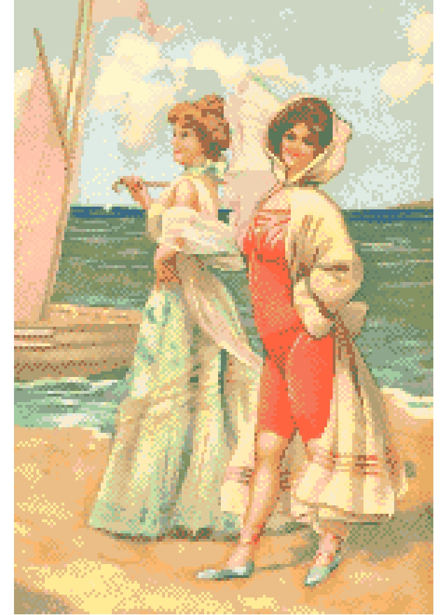 Beach Traditional Cross Stitch.