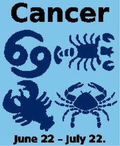 Cancer Zodiac Chart.