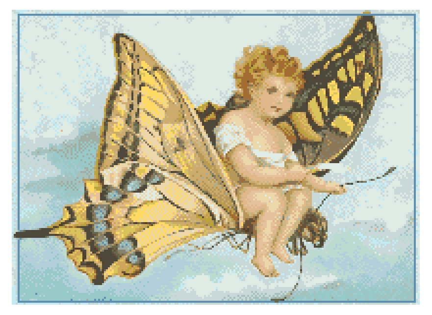 Fairy Cross Stitch Chart.