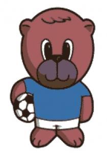 Footballer Bear Cross Stitch Chart.