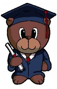 Graduate Bear Cross Stitch Chart.