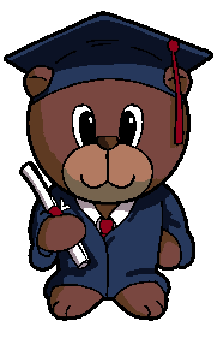 Graduate Bear Cross Stitch Chart.