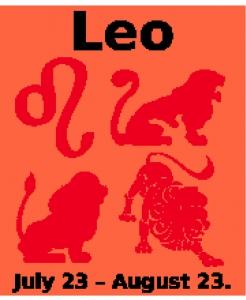 Leo Zodiac Chart.
