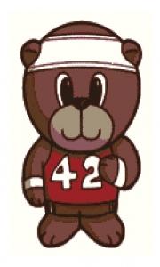 Runner Bear Cross Stitch.