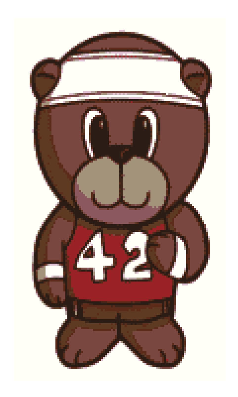 Runner Bear Cross Stitch.
