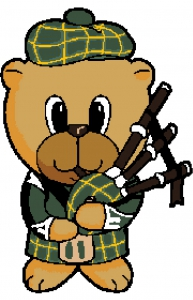 Scottish Bagpiper Bear. (New Style).