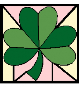 Shamrock Cross Stitch Chart.
