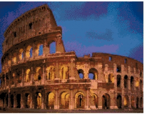 Coliseum Free Cross Stitch Chart.