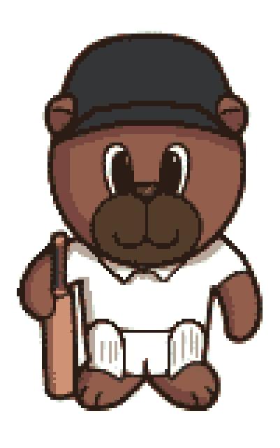 Cricket Bear Cross Stitch.