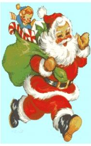Father Christmas Cross Stitch Chart.