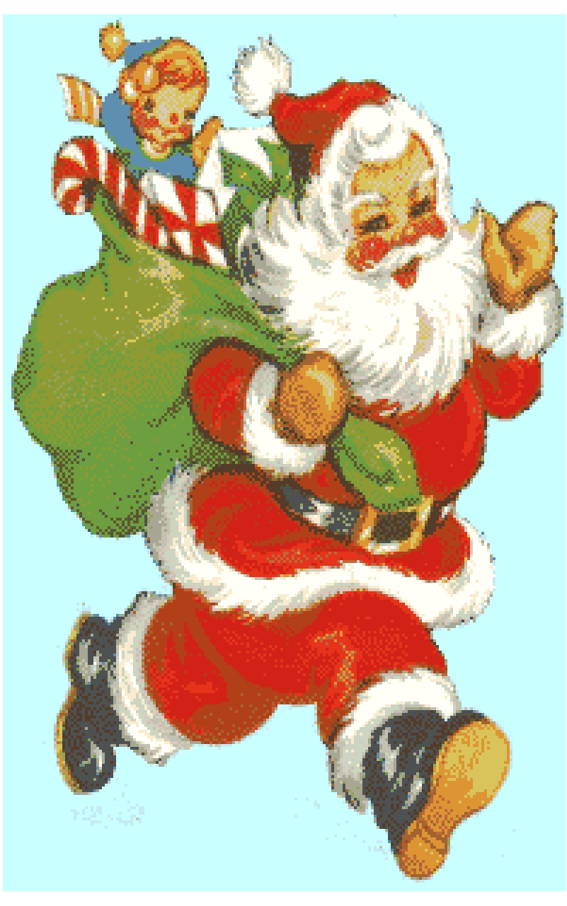 Father Christmas Cross Stitch Chart.
