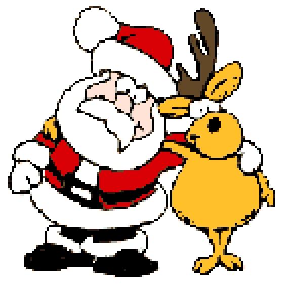 Father Christmas and Reindeer.