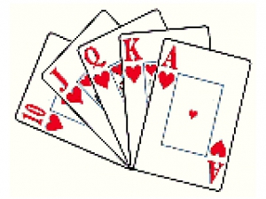 Playing cards ( Poker ).
