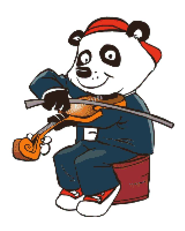 Yowser Playing the Violin.