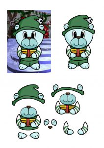 Christmas Bears Elf.