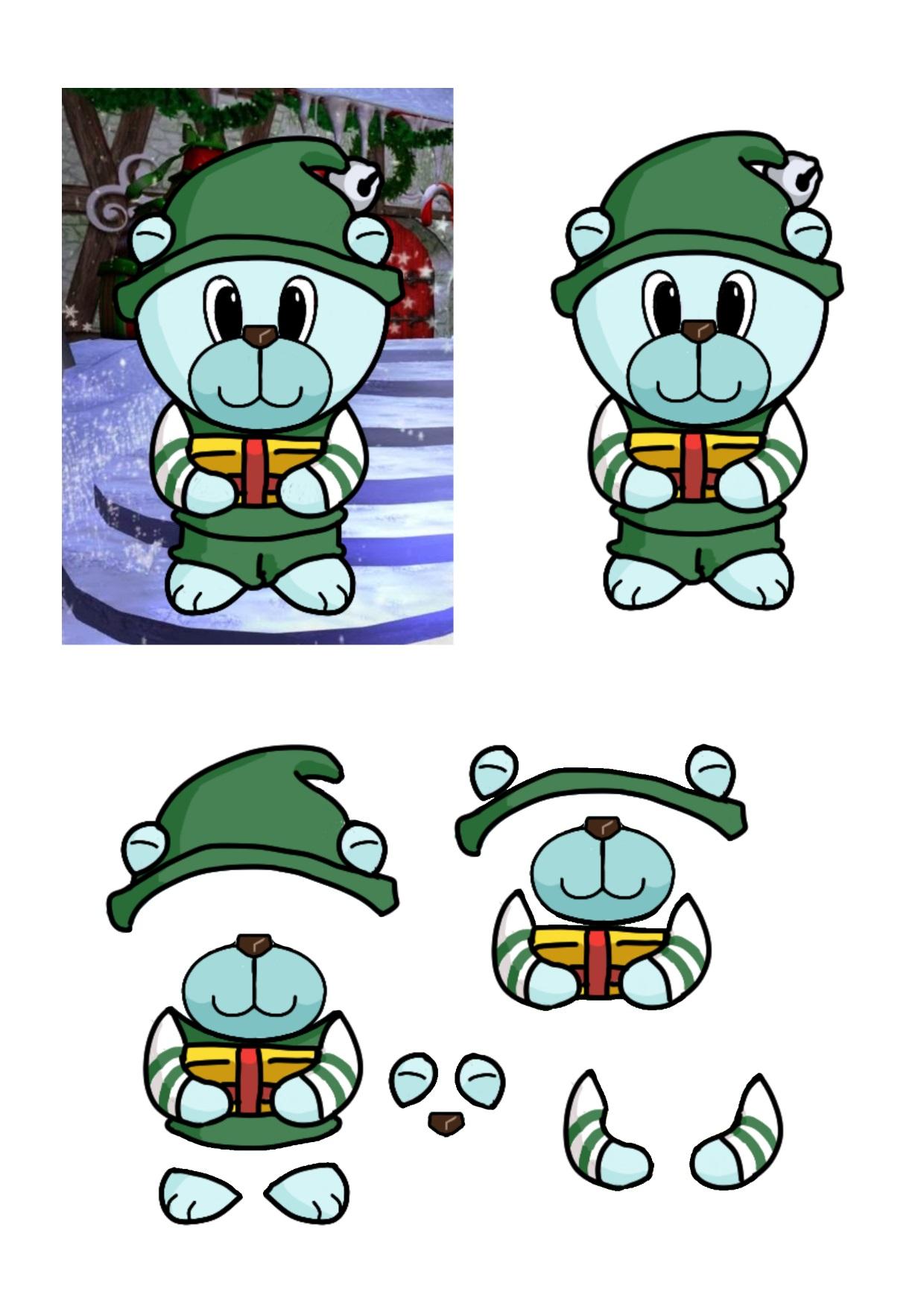 Christmas Bears Elf.