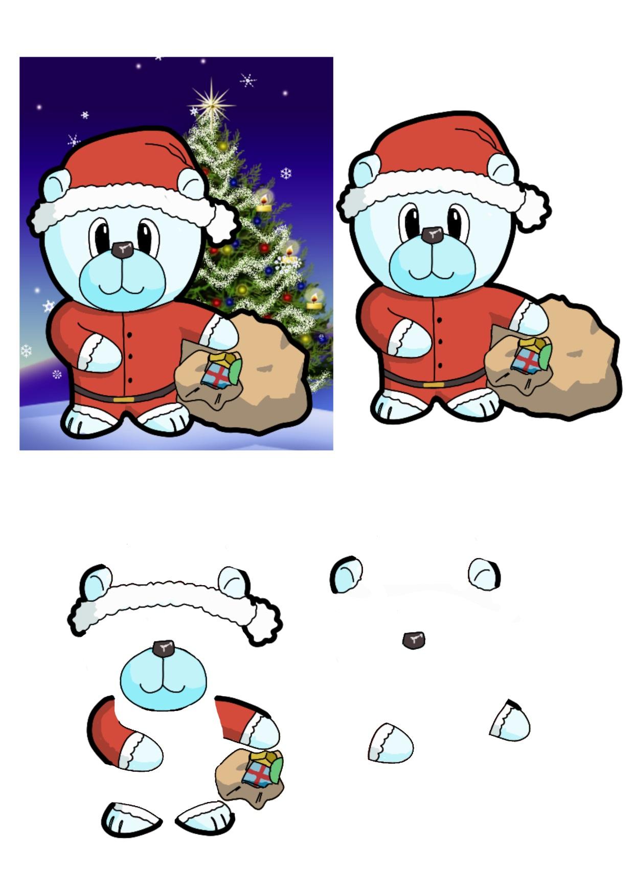 Christmas Bears Father Christmas.