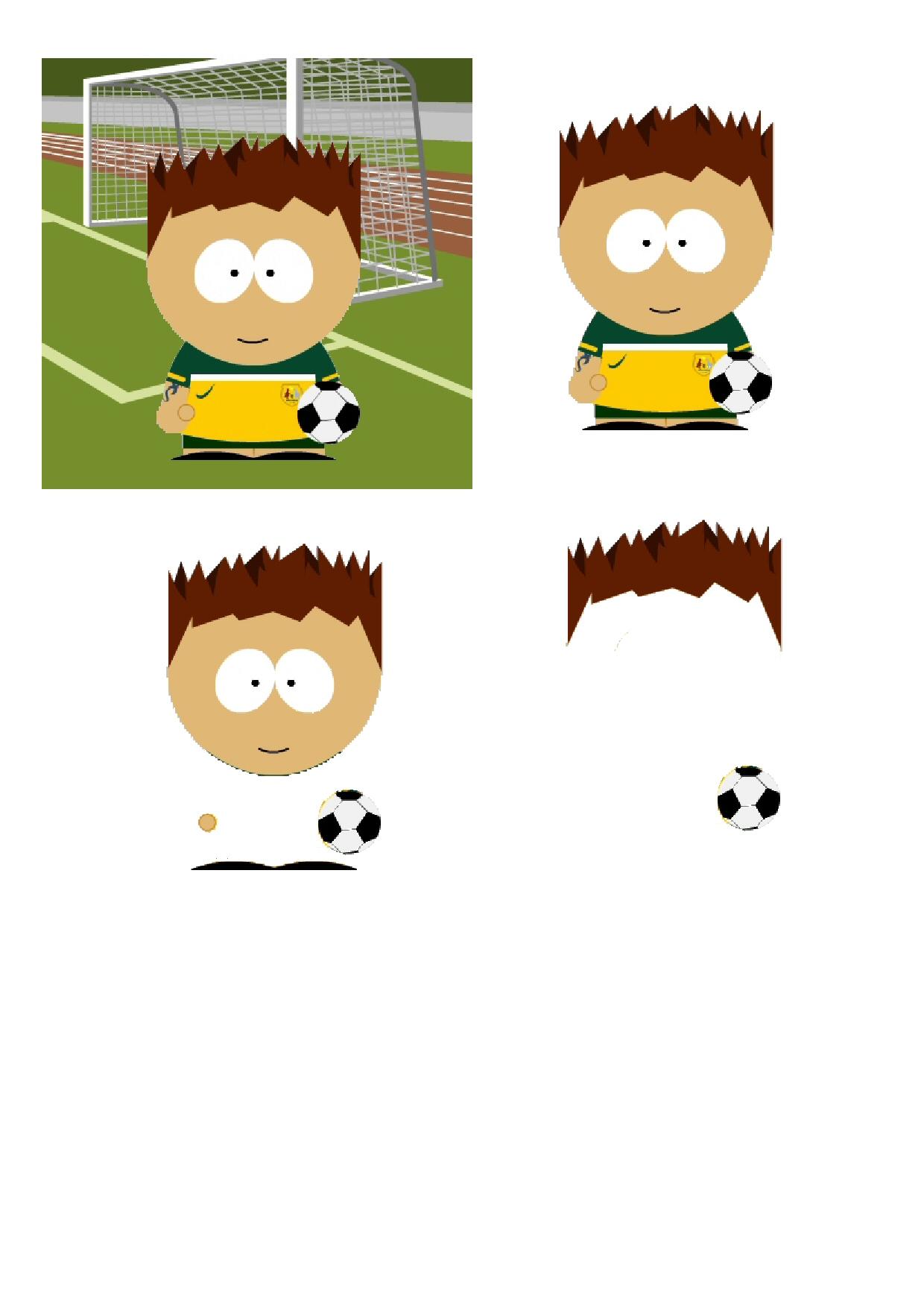 Football Cartoon Papers Set.