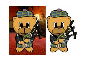 Scottish Piper Bear.