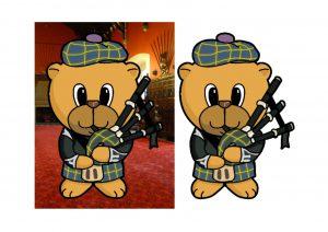 Scottish Piper Bear.